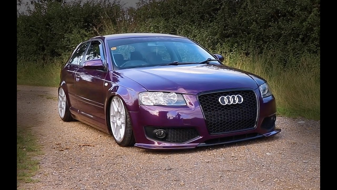 Car Tail Lights >> Stance Audi A3 | Bagged On 3SDM | Rollin'Low - YouTube