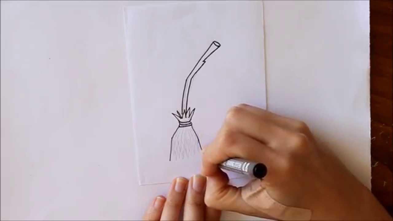 Cmo dibujar una Escoba de Bruja Mini Serie Halloween Dibuja