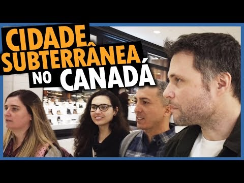 IMPRESSIONANTE CIDADE EMBAIXO DA TERRA EM TORONTO - DIA A DIA NO INVERNO DO CANADÁ NO PATH