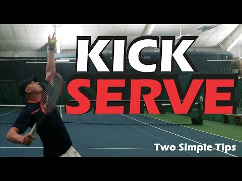 Thumbnail: How To Hit A More Consistent KICK SERVE - Tennis Lessons - Toss and Arm Action - Tennis Serve tips