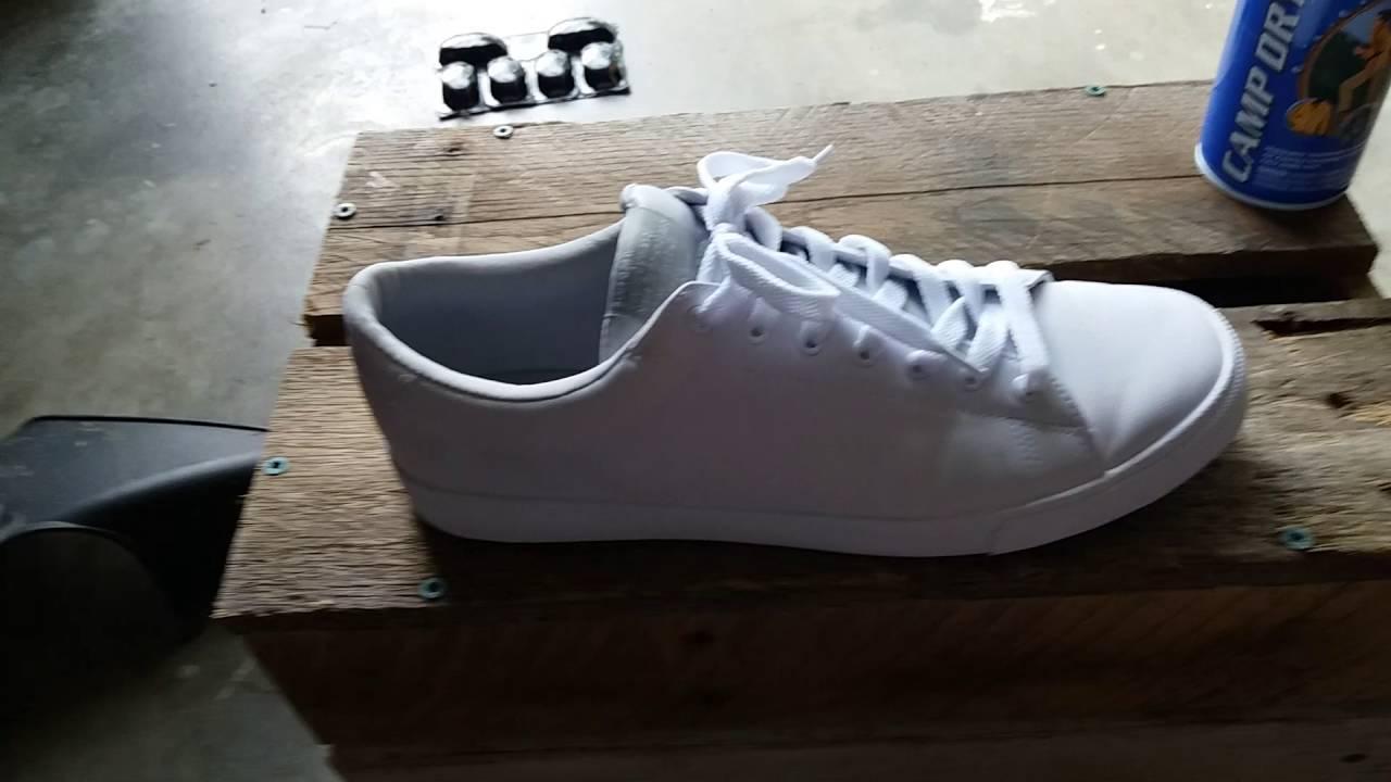 All white Minimalist H\u0026M sneakers