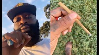 Rick Ross Gets ROASTED For Rolling The Smallest Blunt Ever