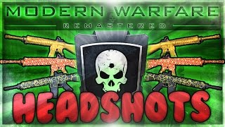 Earning Gold & Regal Camos in MWR - How to Get Headshots! (Hardcore Mode Analysis)