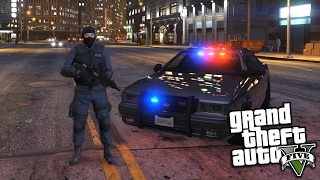 GTA 5 Mods - PLAY AS A COP LSPDFR MOD, BANK ROBBERY, PRISONER ESCAPE (GTA 5 PC Mods Gameplay)