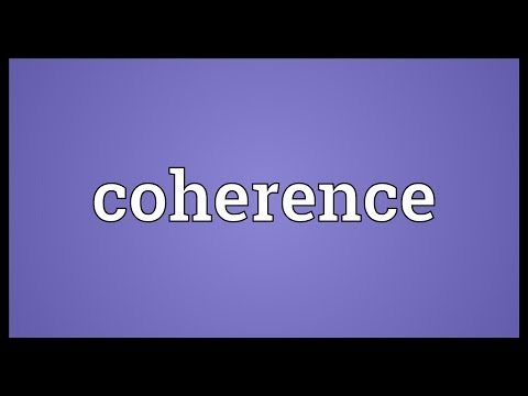 Coherence Meaning