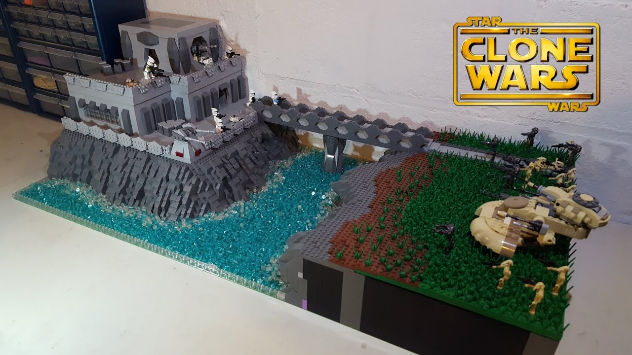 Huge Lego Star Wars The Clone Wars Clone Base On Kuat Moc Build