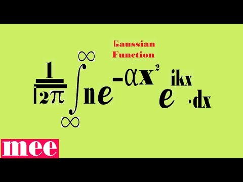 Fourier transformation of Gaussian Function is also Gaussian.