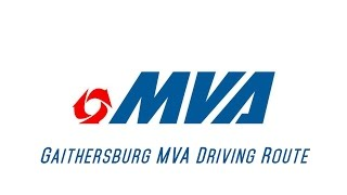 Maryland MVA Driving Test Route (Gaithersburg, Md)