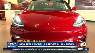 Tesla Model 3 arrives in San Diego