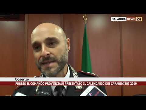Raccolta Differenziata Cosenza Calendario 2019.Cosenza Presentato Il Calendario Dei Carabinieri 2019