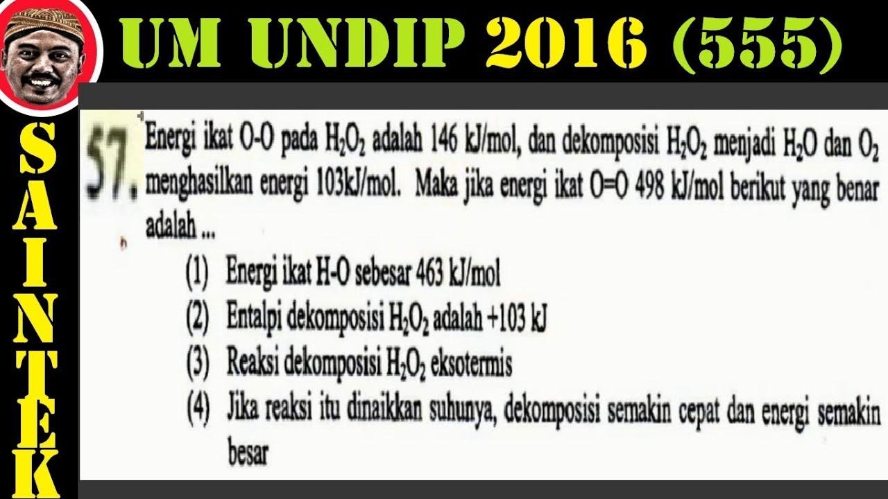 UM UNDIP 2016 ,saintek 555 , Kimia , Pembahasan No 57