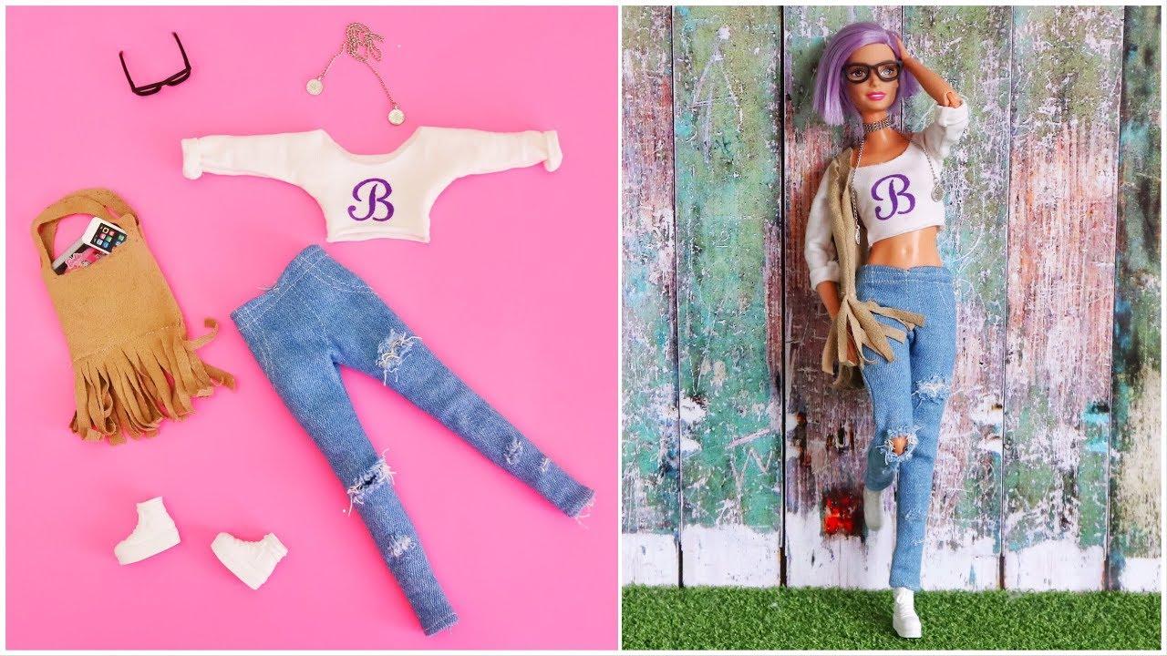 Barbie elbise yapımı | DIY |  Çoraptan Kendin yap ~ 5 dakikada hallet | Barbie kıyafetleri