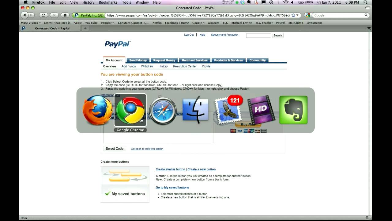 How to Create Online Registration with Google Docs - part 3 paypal ...