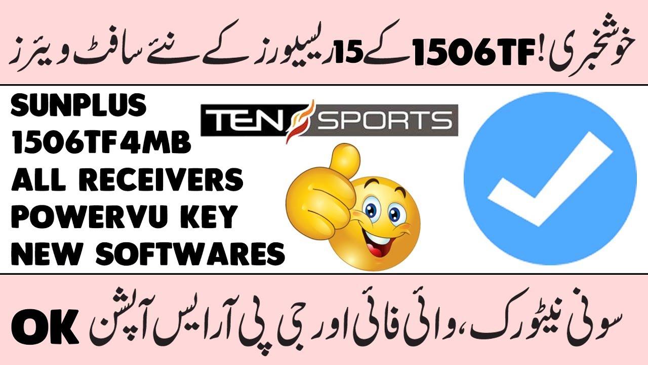 Sunplus 1506TF 4MB All Receivers Latest PowerVU Key New