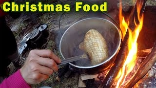 Christmas Food Cooked in a Campfire
