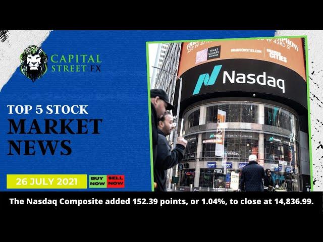 Nasdaq Price Technical Analysis & Market News By Capital Street FX - July 26, 2021
