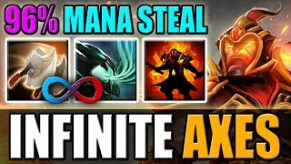 0 CD Wild Axes with Infinite Mana And New 7.22 Aghs | Ability Draft