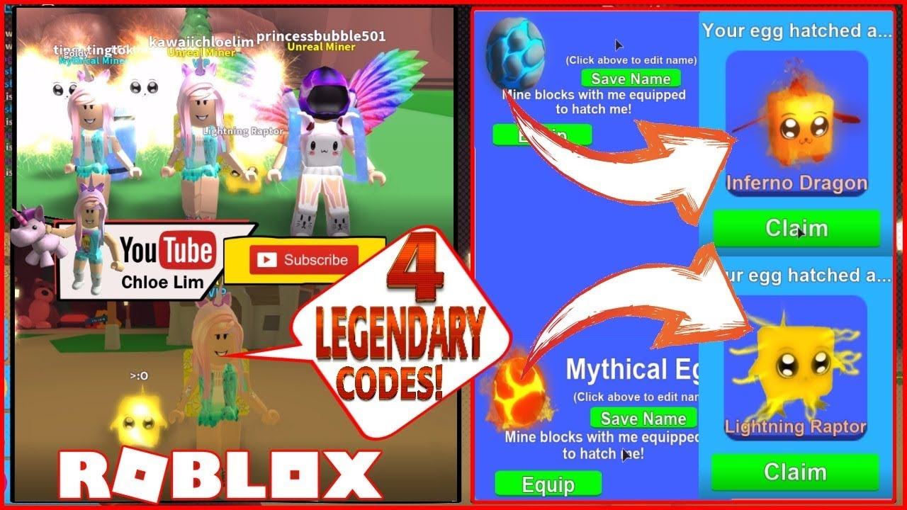 Mining simulator roblox mythical eggs codes