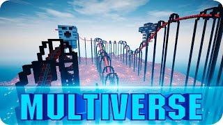 Multiverse: world's longest roller coaster [Minecraft 360° Video] VR