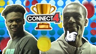 """""""This Who They Brought In To Beat Me!?"""" Rajon Rondo BULLIES Competition In Connect 4 😂"""