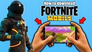 How to Download Fortnite Mobile 🔥ANDROID🔥 with GAME PLAY