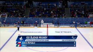 Czech Republic v Italy | 5th place full game| Ice sledge hockey | Sochi 2014