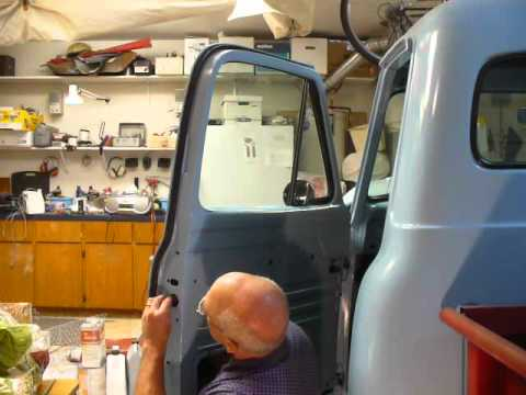 53 54 55 Ford F100 How To Part 5 Installing Latch Youtube