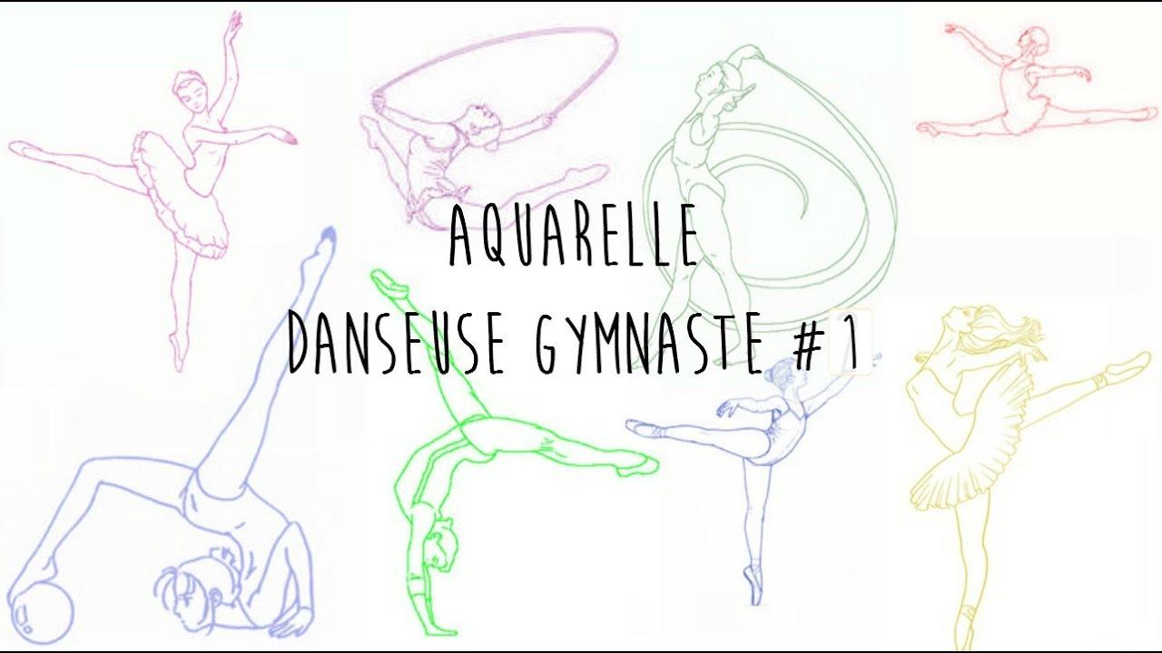 Dessin danseuse gymnaste 1 youtube - Dessin gymnaste ...