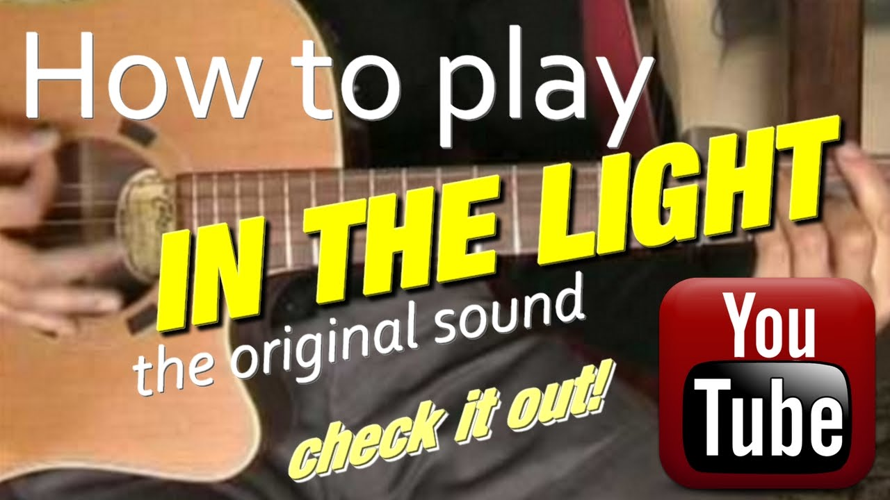 How To Play In The Light From Dc Talk The Original Sound Guitar