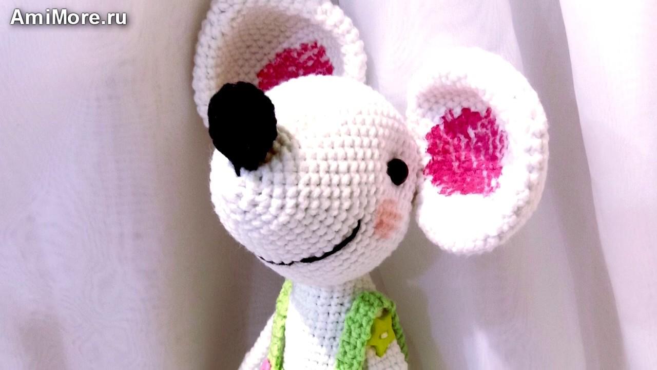 Амигуруми: схема Мышка озорная. Игрушки вязаные крючком - Free crochet patterns.