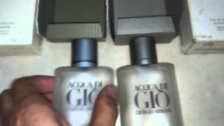 Repeat youtube video Perfume acqua di gio original e falsificado