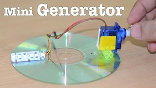 How To Make A Mini GENERATOR At Home Using A SERVO - V Easy