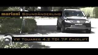 Diesel Sound! VW Touareg 4.2 TDI Facelift P7 Sportauspuff mariani Tuning