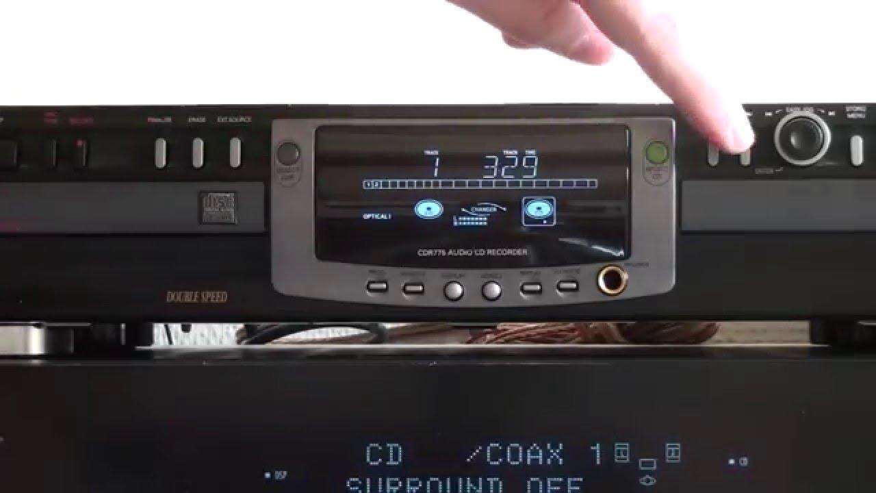 PHILIPS CDR775  HARMAN KARDON HK AVR335  YouTube