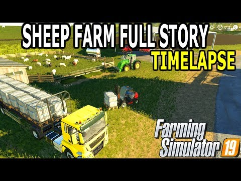 Sheep Farm Full Story Timelapse  Farming Simulator 19