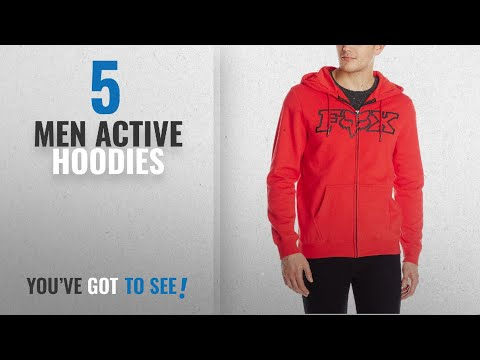 Fox Men Active Hoodies [Winter 2018 ]: Fox Men's Legacy Fheadx Hoodie Zip, Red, Medium