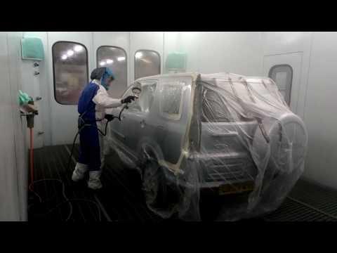 Honda paint spraying – Happy New Year from RETRO REPAINTS