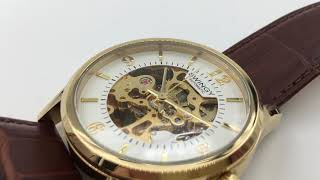 Swingy Mechanical Skeleton wrist watch [Gold colour]
