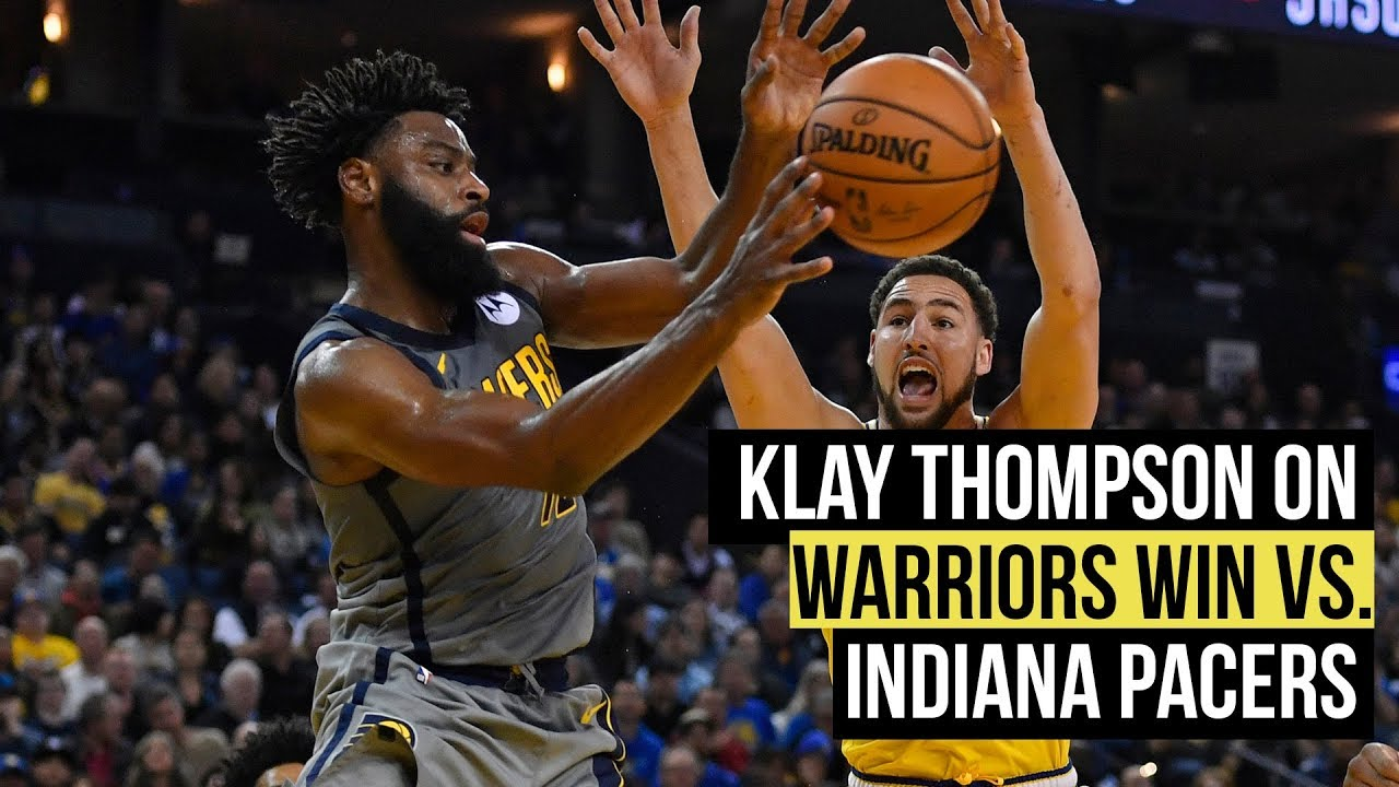 Klay Thompson on Warriors 112-89 Pacers win