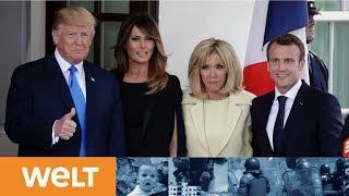 Der Trump-Versteher: Emmanuel Macron erhält glanzvollen Empfang in Washington