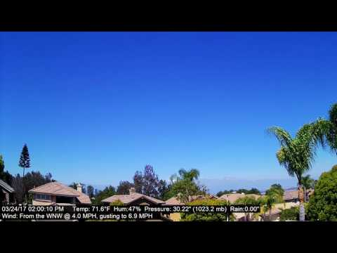 Chino Hills Time-Lapse 3/24/17