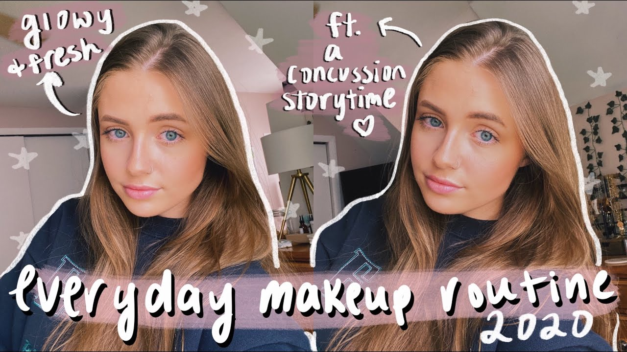EVERYDAY MAKEUP TUTORIAL: simple & glowy for school (ft. concussion storytime & life advice) 2020