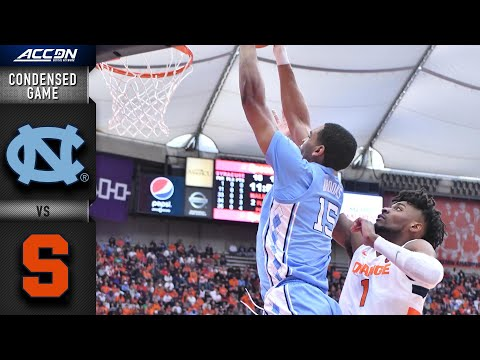 North Carolina Vs. Syracuse Condensed Game   ACC Basketball 2019-20