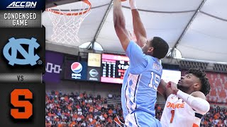 North Carolina Vs. Syracuse Condensed Game | Acc Basketball 2019 20