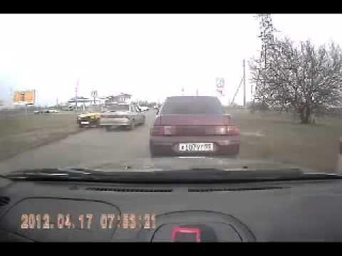 Случай на переезде avi ДТП! Авария! Видеорегистратор