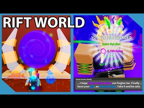 Huge Update! New Rift World! Free Godly Pet! Shelly Questline! - Roblox Ghost Simulator