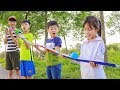 Kids Play Team Building Game Slide Balloon | Kids go to School Cooking Lesson Childrens Song