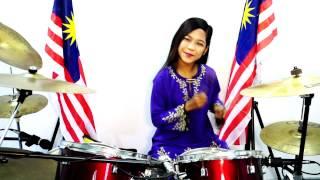 Satu Malaysia - Drum Cover by Nur Amira Syahira