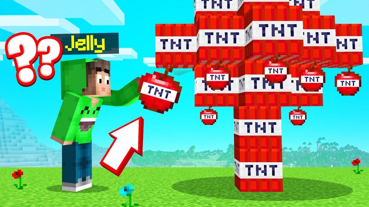 Picking APPLES From A TNT TREE = BAD IDEA! (Minecraft)
