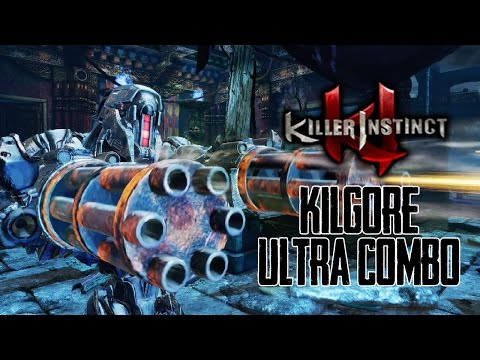 KILGORE (New Character!): Full Ultra Combo - Killer Instinct 2017